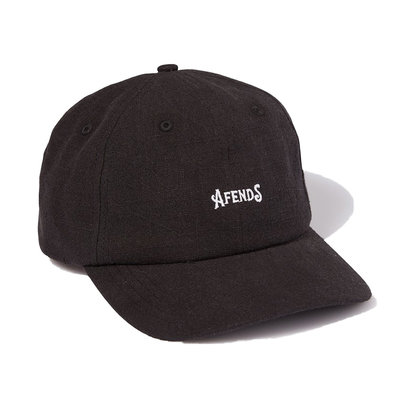 Afends Afends Candy Hemp Soft Brim 6 Panel Cap Black
