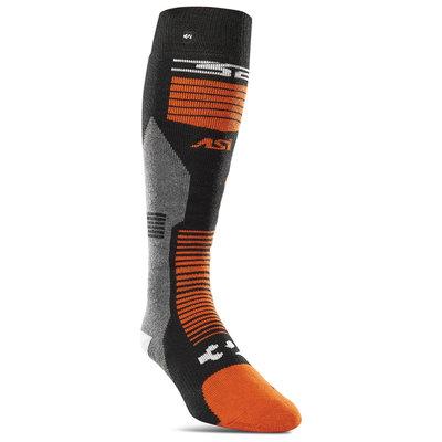 Thirtytwo Thirtytwo ASI Merino Vapor Snowboard Sock Black / Orange