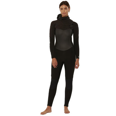 Sisstrevolution Sisstrevolution 7 Seas 5/4 Hooded Chest Zip Full Suit Black