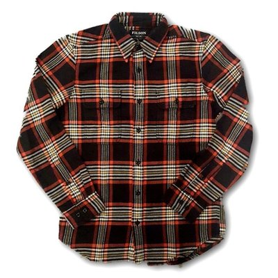 Filson Filson Vintage Flannel Work Shirt Black/Red/Gold