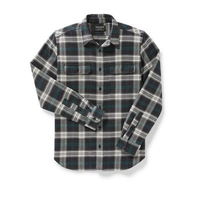 Filson Filson Vintage Flannel Work Shirt Black/Teal/Cream