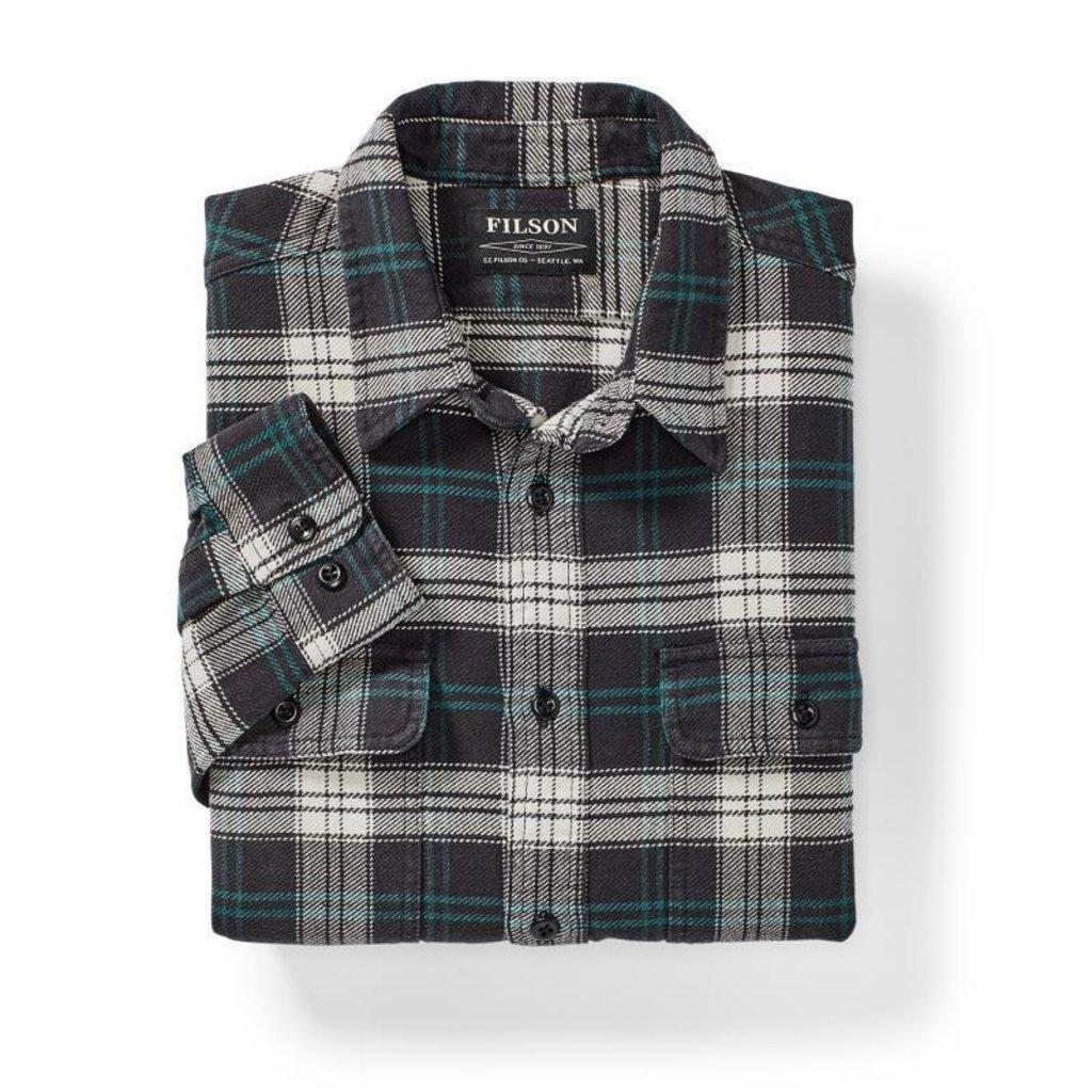 Filson Filson Vintage Flannel Work Shirt Black/Teal/Cream