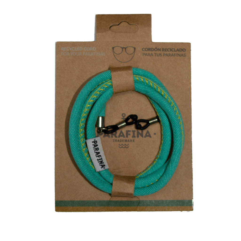 Parafina Parafina Recycled Sunglasses cord Turquoise
