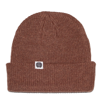 Behind The Pines Behind The Pines Essential Merino Beanie Brick