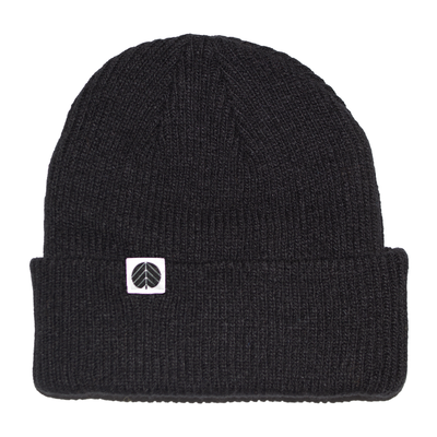 Behind The Pines Behind The Pines Essential Merino Beanie Black