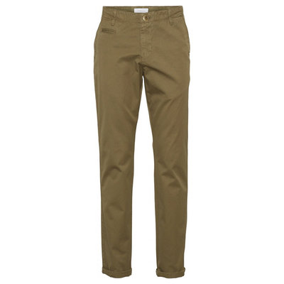 Knowledge Cotton Apparel Knowledge Cotton Apparel Chuck Regular Chino Pant Burned Olive