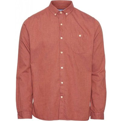 Knowledge Cotton Apparel Knowledge Cotton Apparel Elder Melange Flannel Shirt Fig