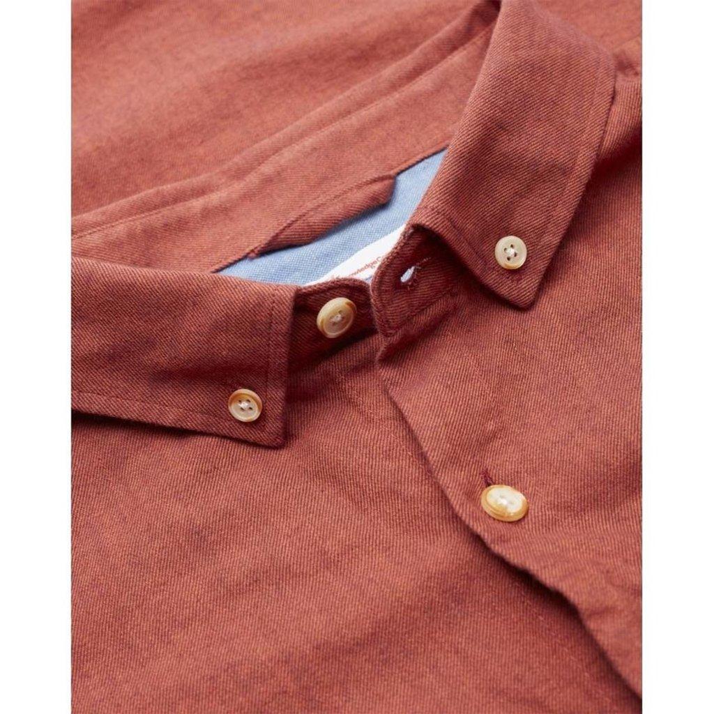 Knowledge Cotton Apparel Knowledge Cotton Apparel Elder Melange Flannel Shirt Fig