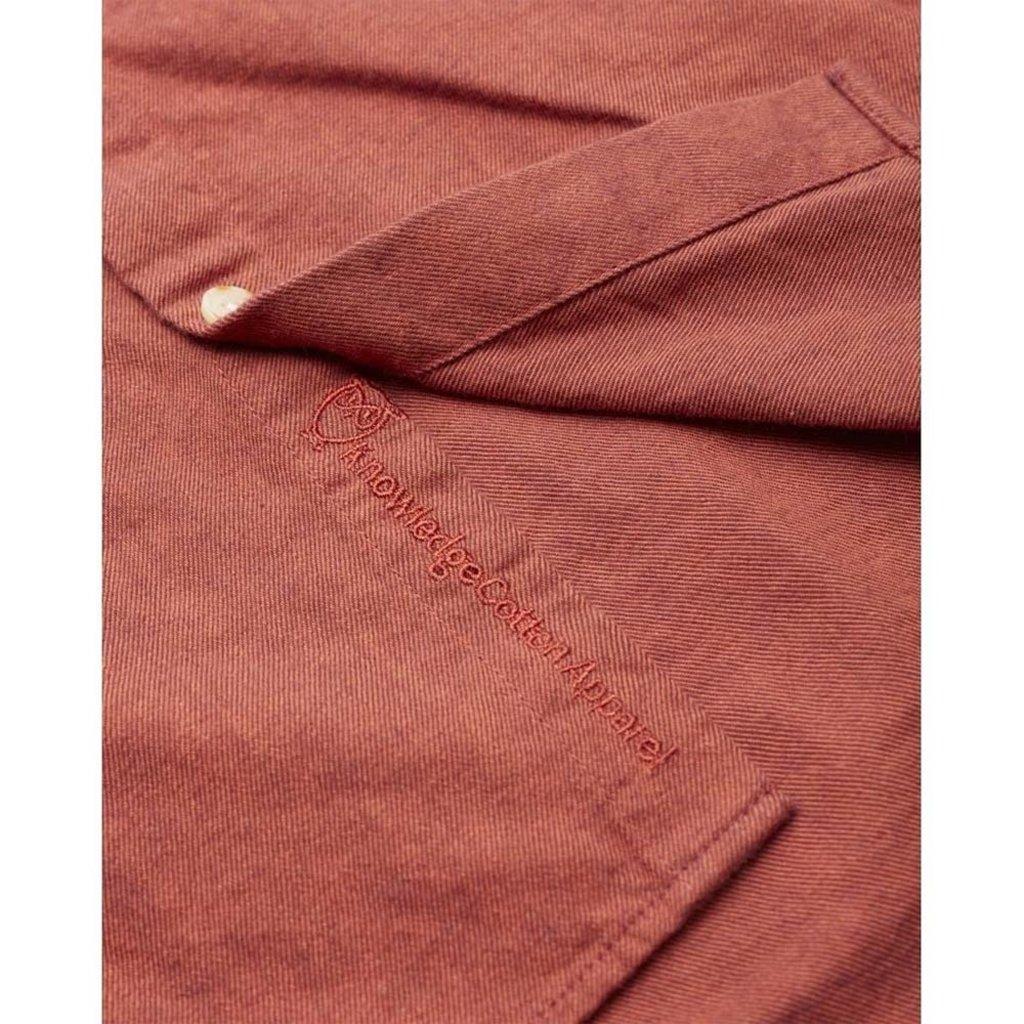 KnowledgeCotton Apparel Knowledge Cotton Apparel Elder Melange Flannel Shirt Fig