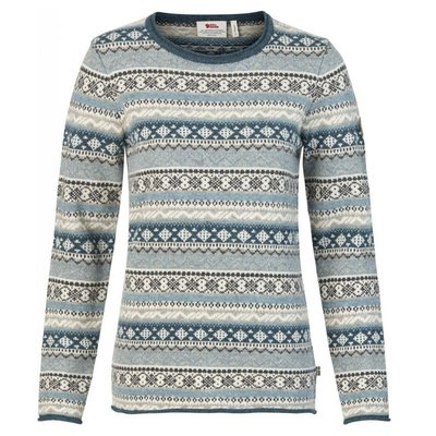 Fjallraven Fjallraven Ovik Folk Knit Sweater Womens Frost Green