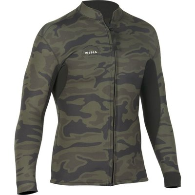 Vissla Vissla Camo 2mm Front Zip Jacket Camo / Black