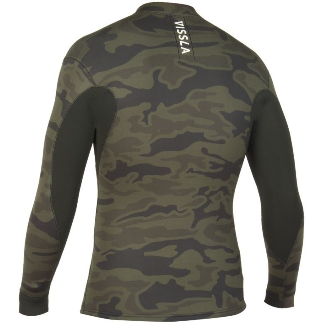 Vissla Vissla Camo 2mm Front Zip Jacket Camo / Black