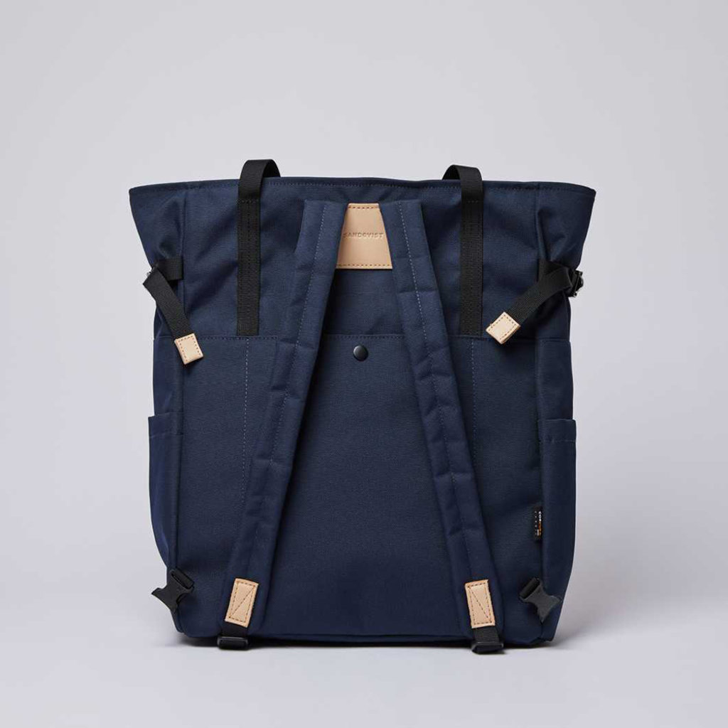Sandqvist Sandqvist Roger Navy / Natural Leather