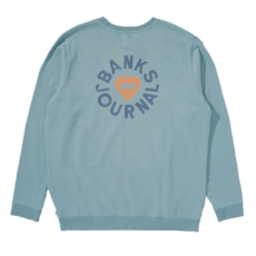 Banks Journal Banks Journal Heart Rings Fleece Smoke Blue