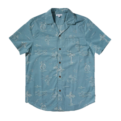 Banks Journal Banks Journal Seaside S/S Shirt Smoke Blue