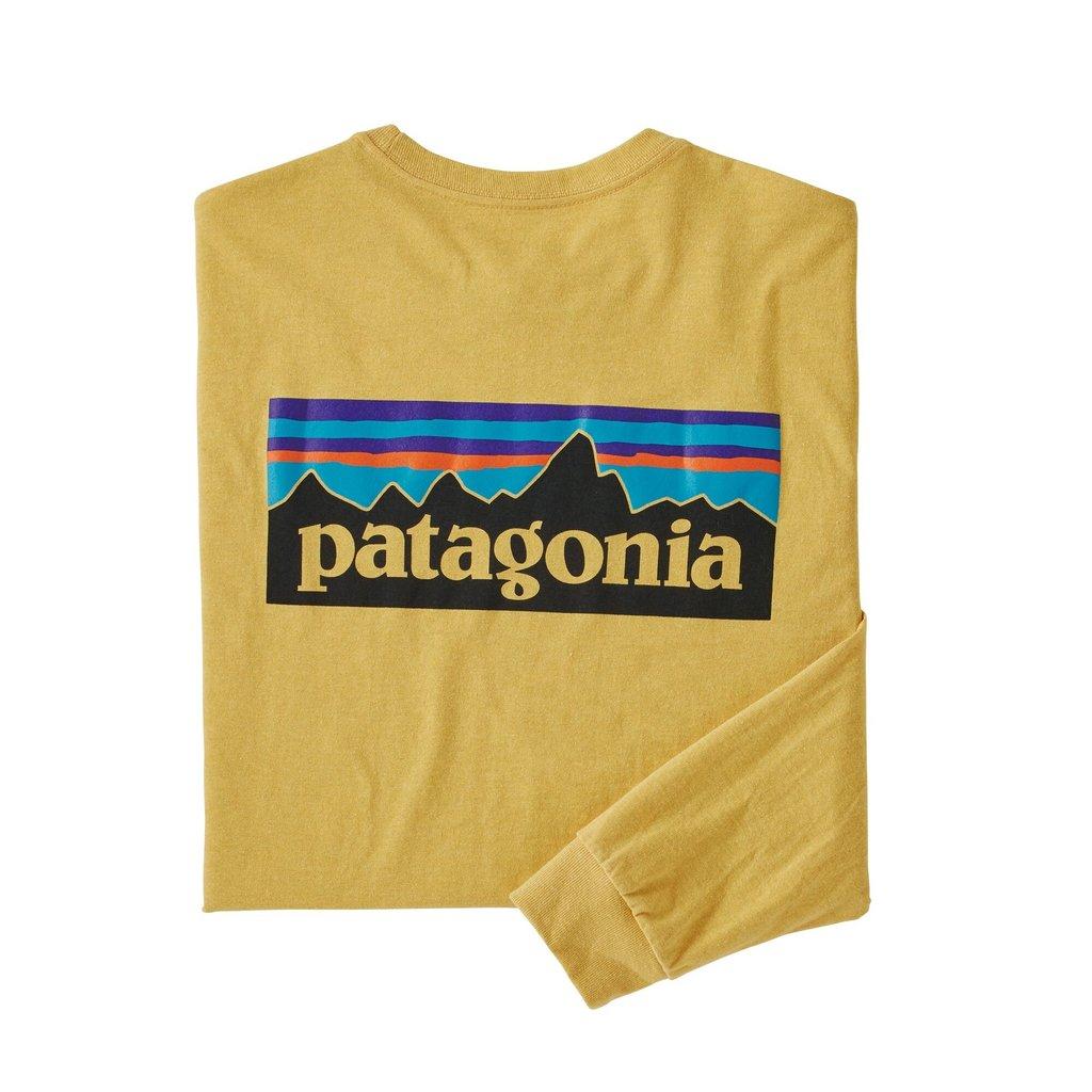 Patagonia Patagonia L/S P-6 Logo Responsibili-Tee Surfboard Yellow