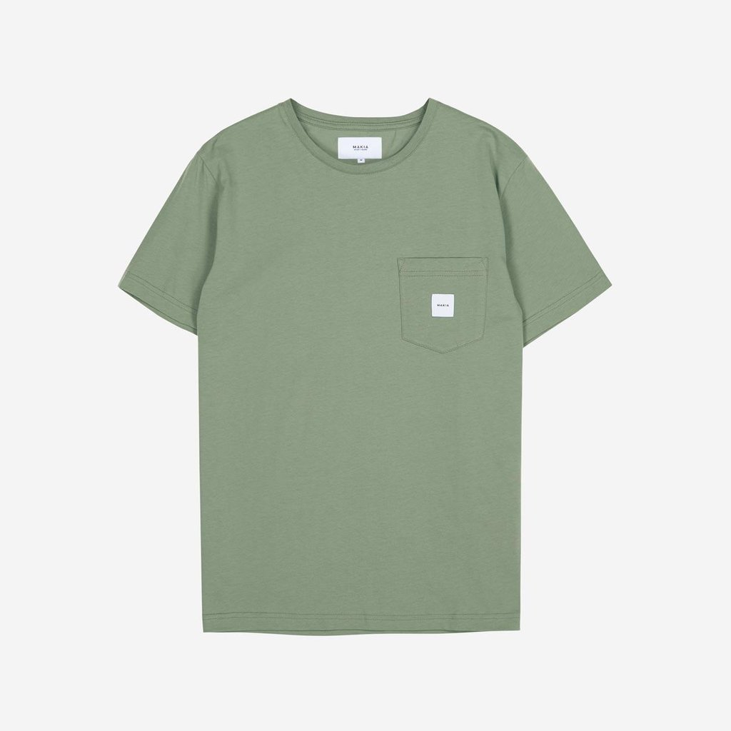 Makia Makia Square Pocket T-Shirt Olive
