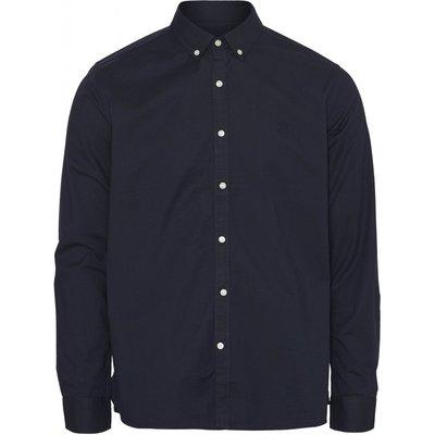 Knowledge Cotton Apparel Knowledge Cotton Apparel Elder Regular Fit Small Owl Oxford Shirt Total Eclipse