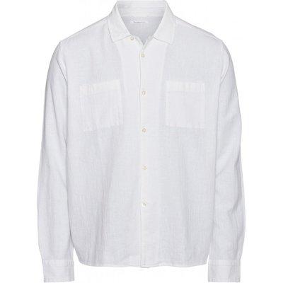Knowledge Cotton Apparel Knowledge Cotton Apparel Wave Plain LS Shirt Bright White