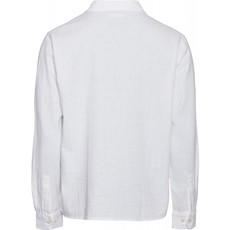 KnowledgeCotton Apparel Knowledge Cotton Apparel Wave Plain LS Shirt Bright White