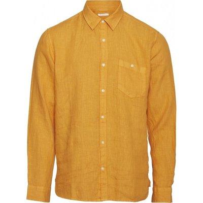 Knowledge Cotton Apparel Knowledge Cotton Apparel Larch LS Linen Shirt Total Zennia Yellow