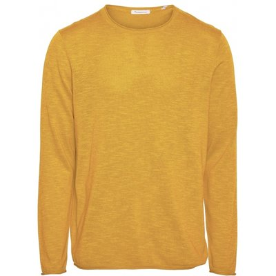 KnowledgeCotton Apparel KnowledgeCotton Forrest O-Neck Tencel Knit Zennia Yellow