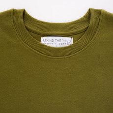 Behind The Pines Behind The Pines Organic Crewneck Khaki Green