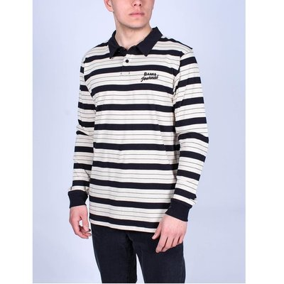 Banks Journal Banks Journal Highway Longsleeve Polo Dirty Black