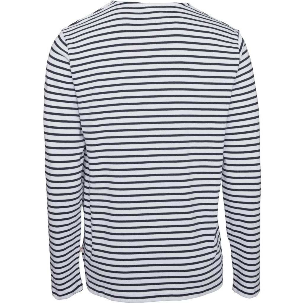 KnowledgeCotton Apparel Knowledge Cotton Apparel Locust Striped Long Sleeve Total Eclipse