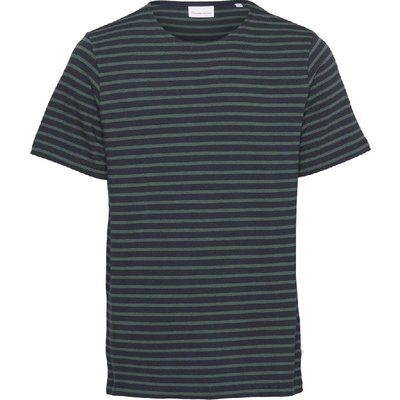 KnowledgeCotton Apparel Knowledge Cotton Apparel Alder Stripe Tee Pineneedle