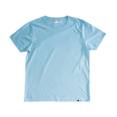 Behind The Pines Behind The Pines Organic Tee Regular Fit Blue Bird Blue