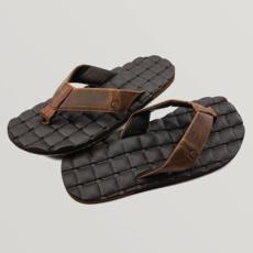 Volcom Volcom Recliner Leather Sandal Vintage Brown
