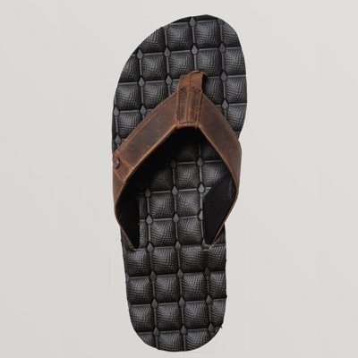Volcom Volcom Recliner Leather Sandal Vintage Brown