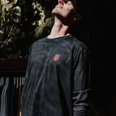Behind The Pines Behind The Pines Organic Amsterdam L/S Tee Black