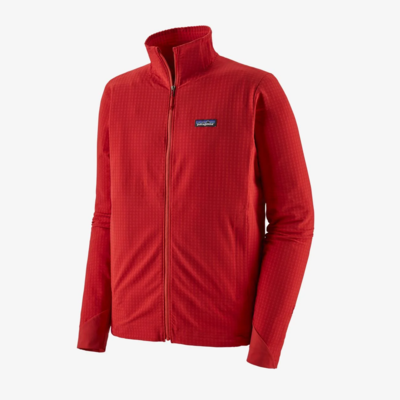 Patagonia Patagonia Mens R1 TechFace Jacket Fire Red