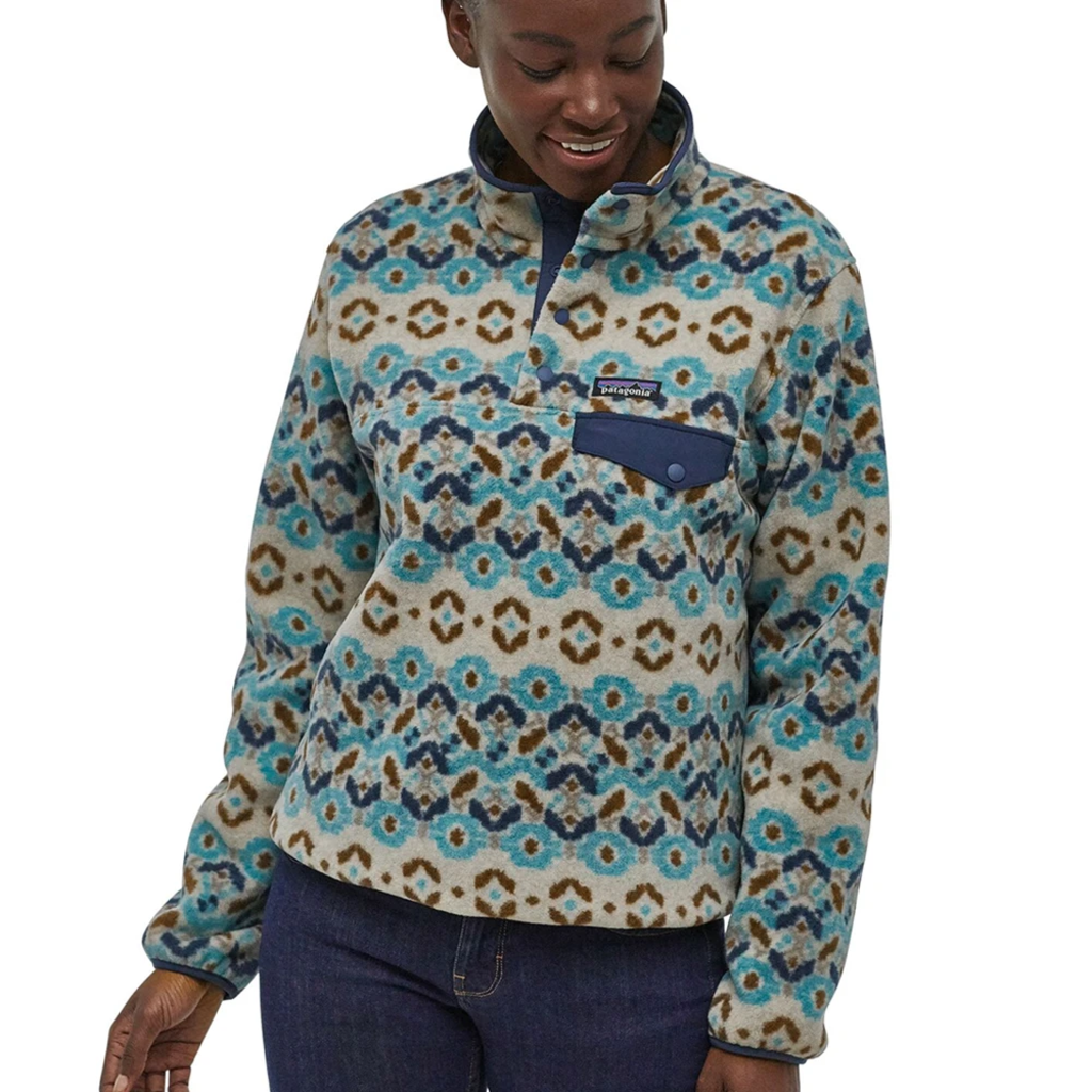 Patagonia Patagonia Womens Lightweight Synchilla Snap-T Pullover Tundra Cluster Big Sky Blue