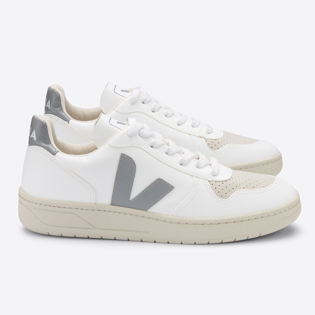Veja Veja V-10 CWL White / Oxford Grey / Vegan Leather