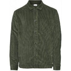 KnowledgeCotton Apparel Knowledge Cotton Apparel 8 Wales Corduroy Overshirt Forest Night