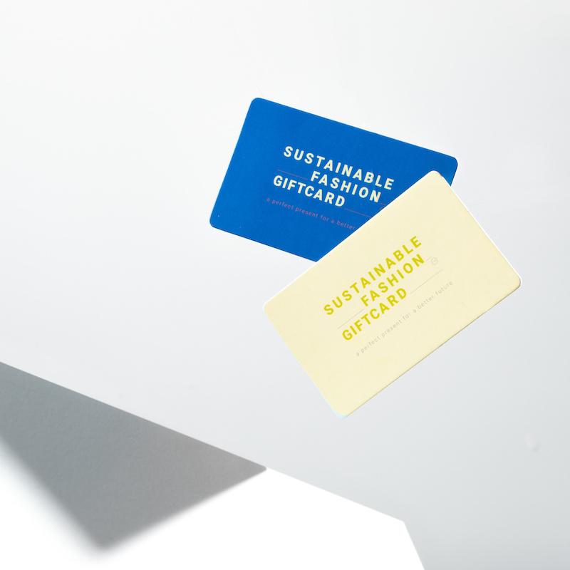 Shop online en offline met de Sustainable Fashion Giftcard .