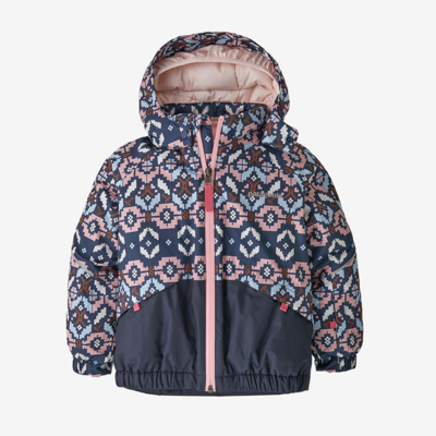Patagonia Patagonia Baby Snow Pile Jacket Tunra Cluster Texture / Rosebud Pink