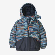 Patagonia Patagonia Baby Snow Pile Jacket Play Stripe / Wooly Blue