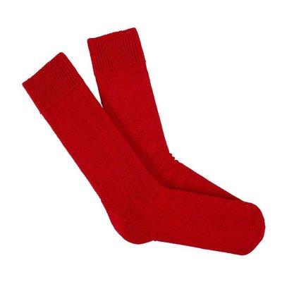 Behind The Pines Behind The Pines Luxury Alpaca Wool Everyday Socks Red