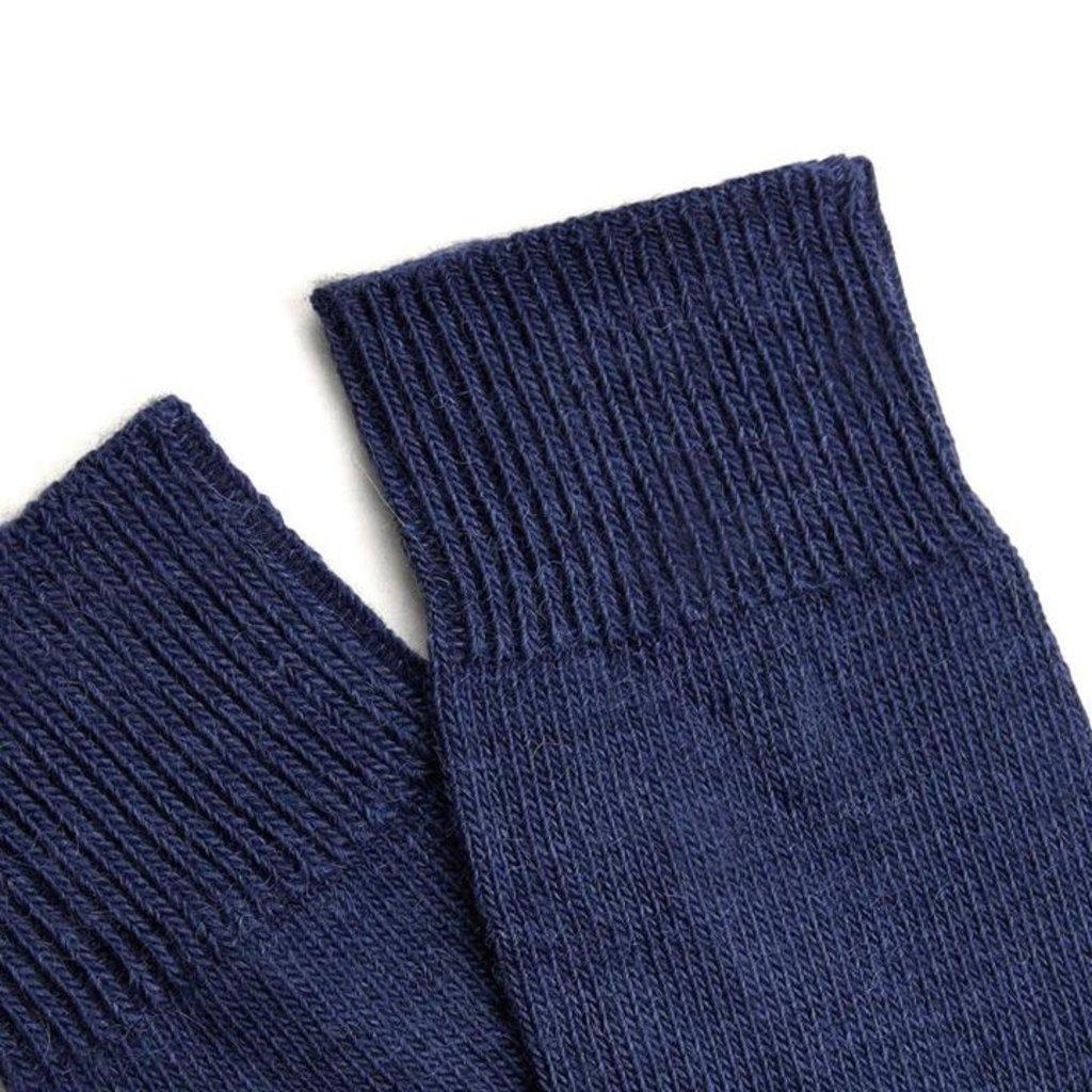Behind The Pines Behind The Pines Luxury Alpaca Wool Everyday Socks Navy
