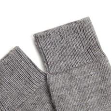 Behind The Pines Behind The Pines Luxury Alpaca Wool Everyday Socks Light Grey