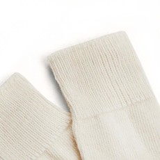 Behind The Pines Behind The Pines Luxury Alpaca Wool Everyday Socks Off White