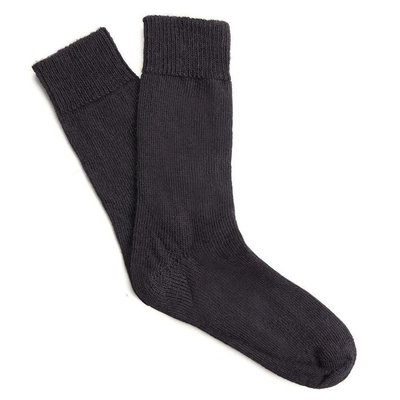 Behind The Pines Behind The Pines Luxury Alpaca Wool Everyday Socks Black