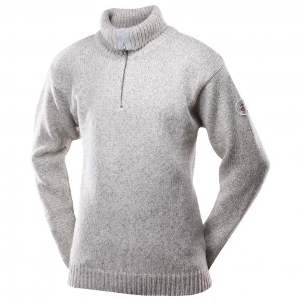 Devold Devold Nansen Zip Cardigan High Neck Grey Melange / Off White
