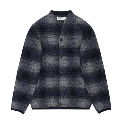 Universal Works Universal Works Austin Wool Fleece Cardigan Navy