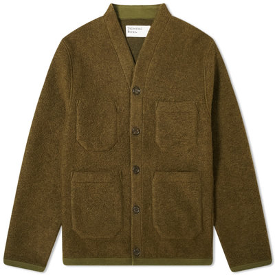 Universal Works Universal Works Wool Fleece Cardigan Olive