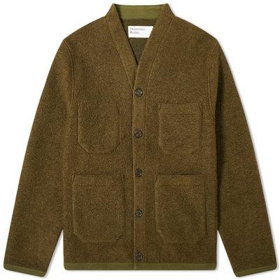 Universal Works Universal Works Wool Fleece Cardigan Olive
